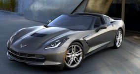 Chevrolet Corvette 3LT 6.2L w/o Z51 Black Wheel